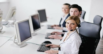 Photo of a Call Centre Member