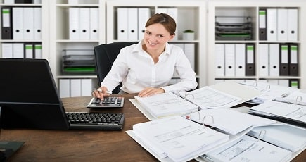Photo of a Banking Clerk